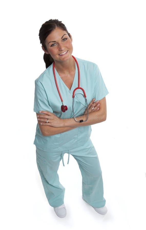 Operaio femminile grazioso di sanità immagine stock