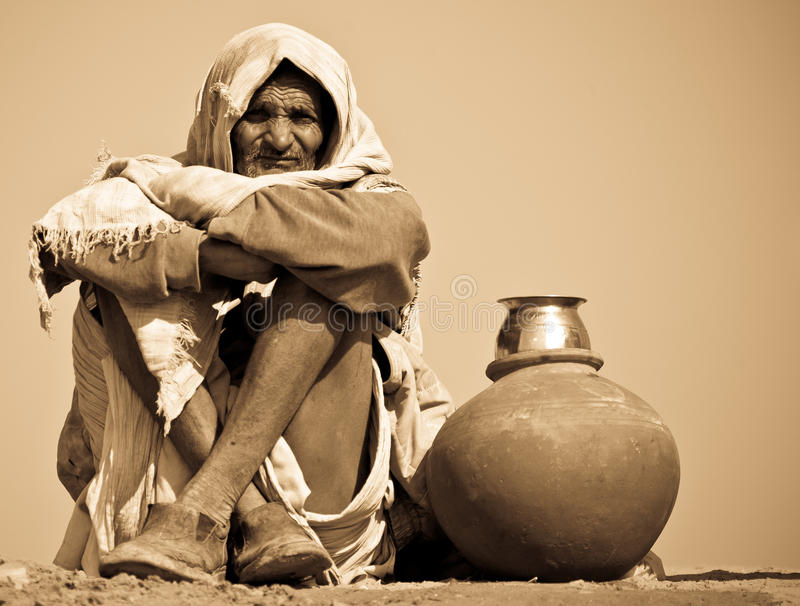 Operaio indiano fotografie stock libere da diritti