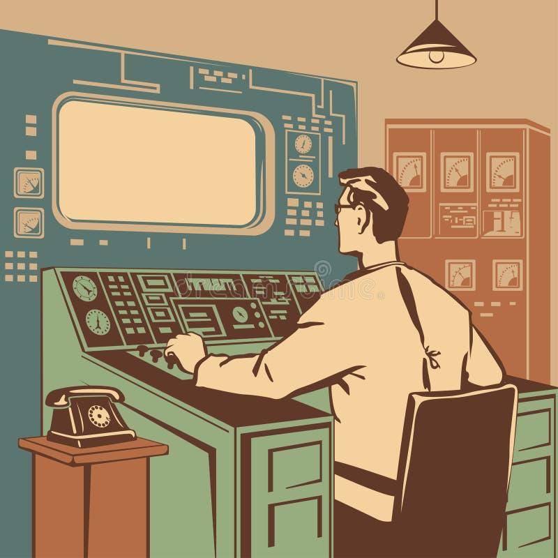Operatör stock illustrationer