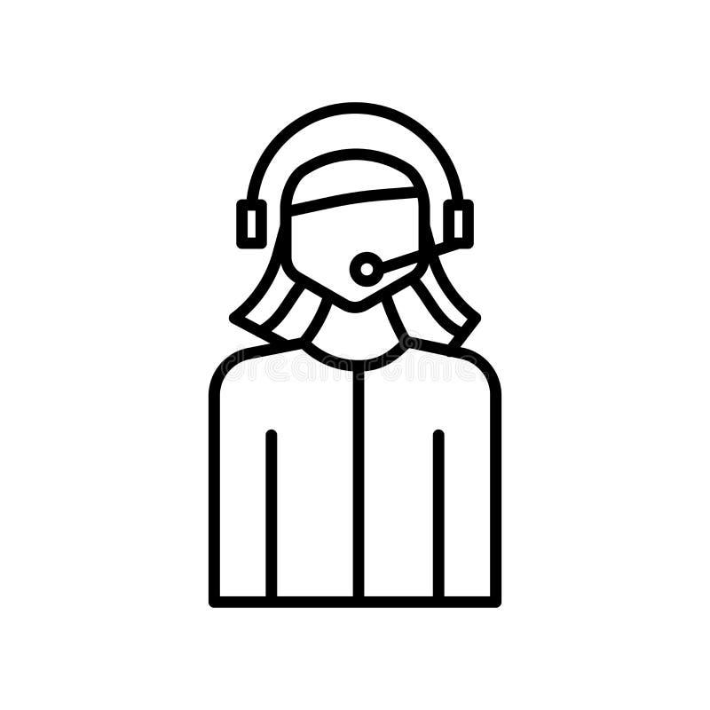 Operatörssymbolsvektor som isoleras på vit bakgrund, operatörstecken, tunn linje designbeståndsdelar i översiktsstil vektor illustrationer