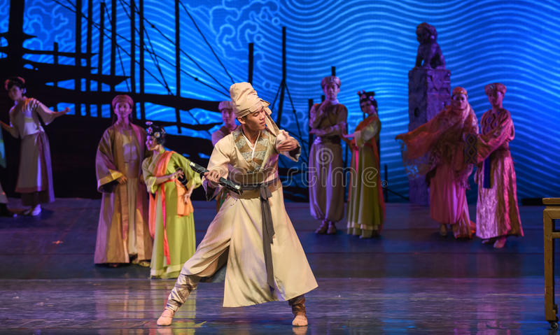 "Operate an abacus-Dance drama ""The Dream of Maritime Silk Road"" stock photo"