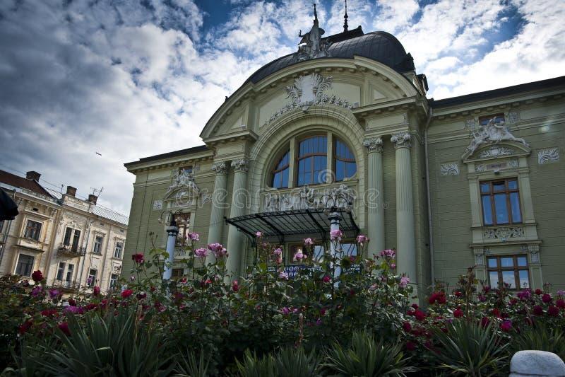 Operatheater in Chernivtsi royalty-vrije stock foto's
