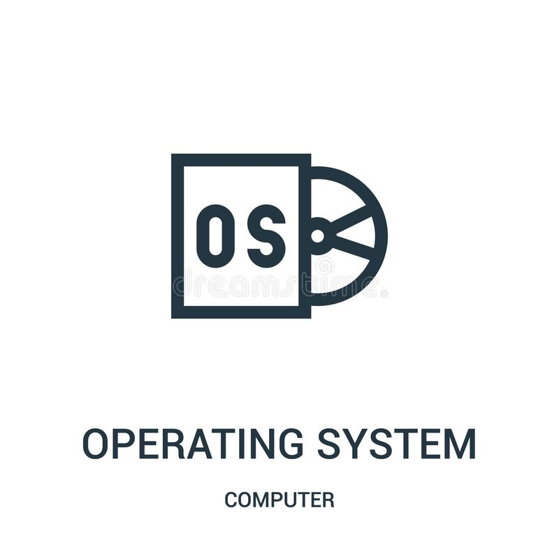 operating system icon vector from computer collection. Thin line operating system outline icon vector illustration royalty free illustration