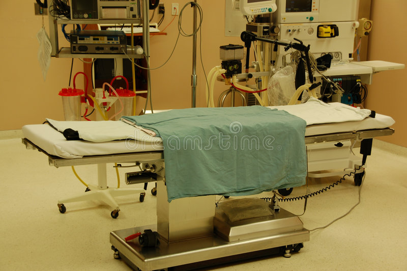 Operating table royalty free stock photos
