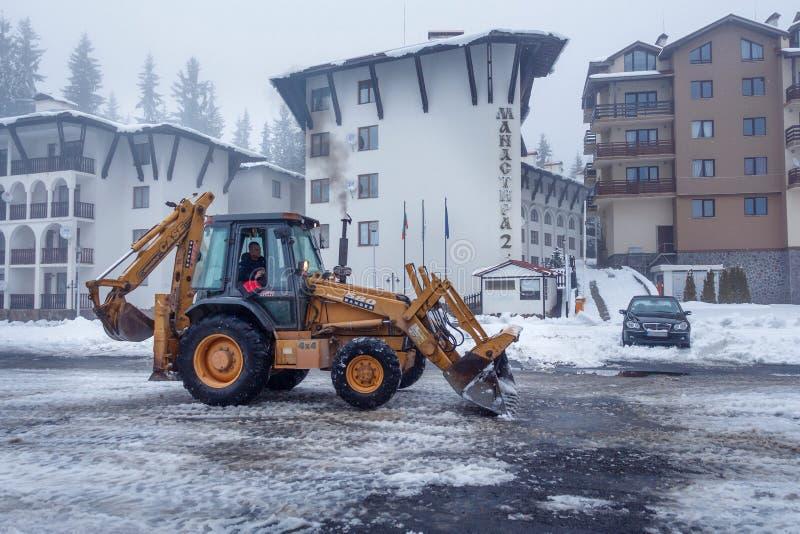 Operation för snöborttagning royaltyfri foto