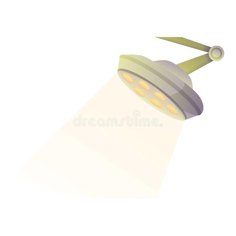 Operation lamp icon, cartoon style. Operation lamp icon. Cartoon of operation lamp vector icon for web design isolated on white background royalty free illustration