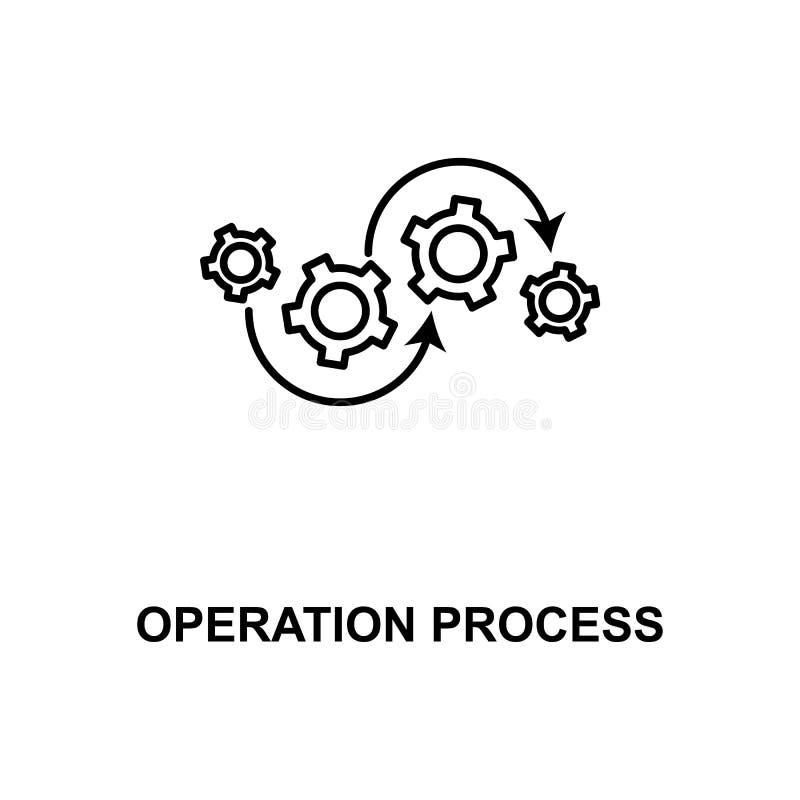 Operation process line icon. On white background stock illustration