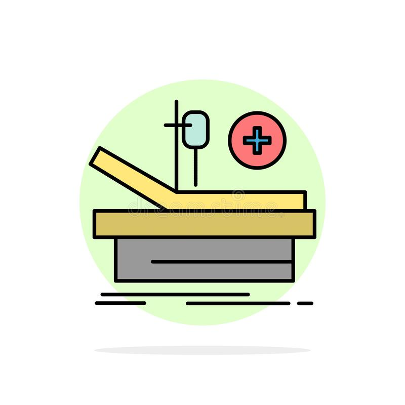 Operation, Theater, Medical, Hospital Abstract Circle Background Flat color Icon royalty free illustration