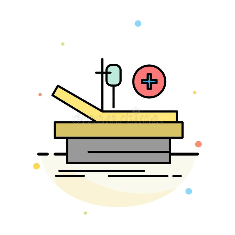 Operation, Theater, Medical, Hospital Abstract Flat Color Icon Template stock illustration