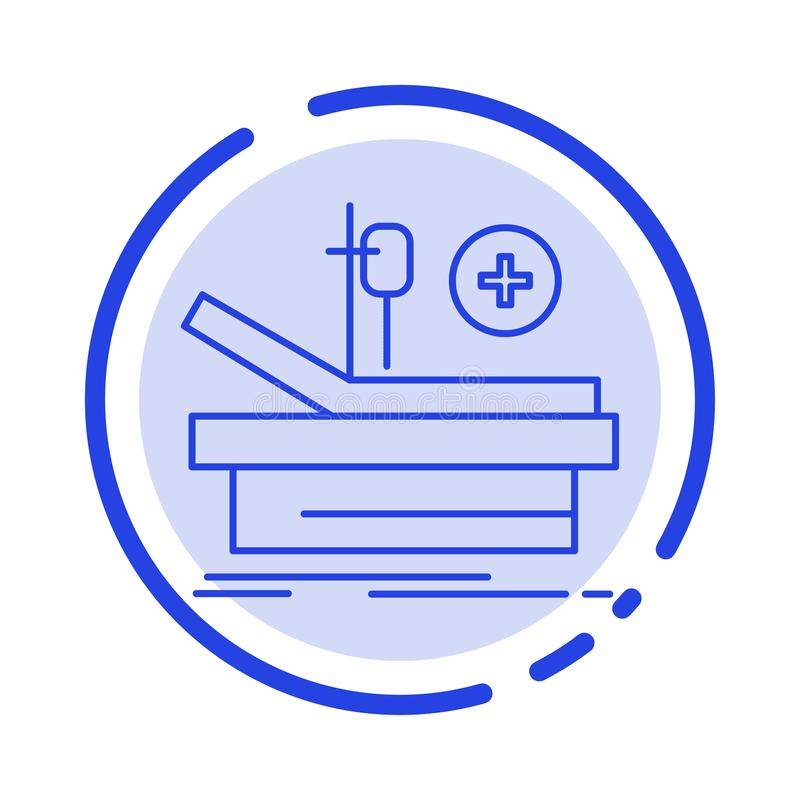 Operation, Theater, Medical, Hospital Blue Dotted Line Line Icon royalty free illustration