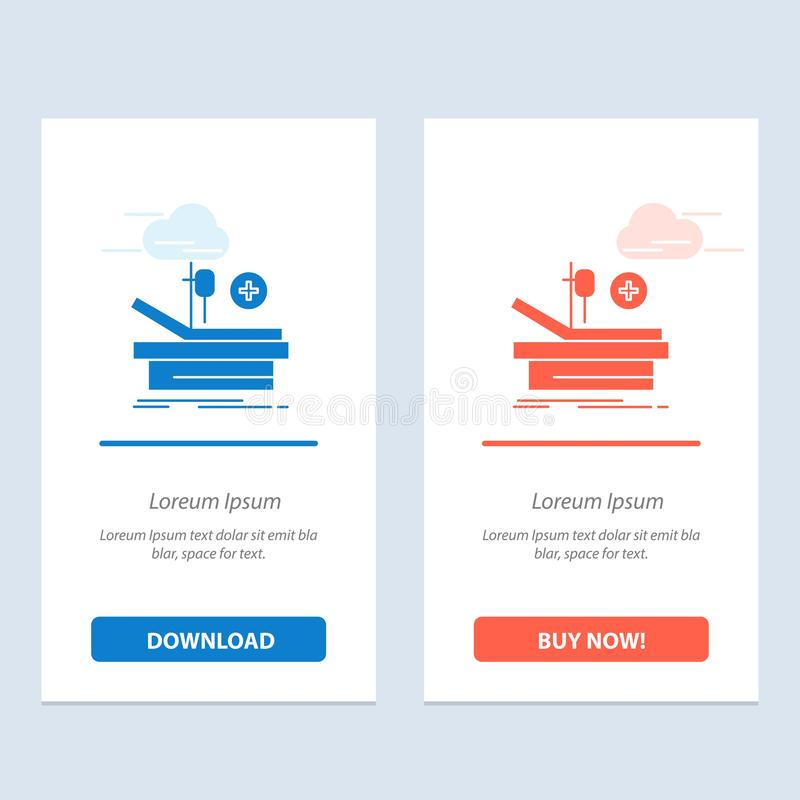 Operation, Theater, Medical, Hospital  Blue and Red Download and Buy Now web Widget Card Template royalty free illustration