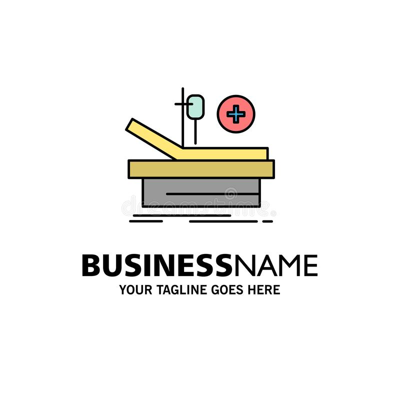 Operation, Theater, Medical, Hospital Business Logo Template. Flat Color vector illustration