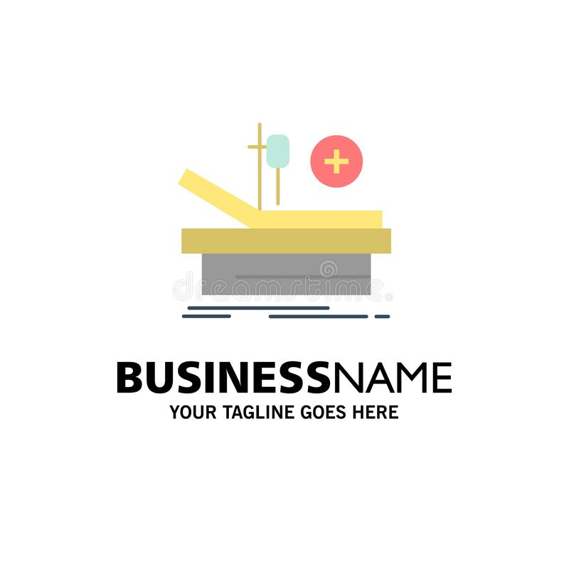 Operation, Theater, Medical, Hospital Business Logo Template. Flat Color stock illustration