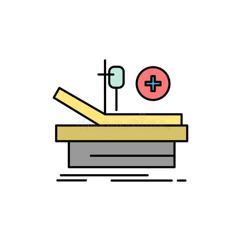 Operation, Theater, Medical, Hospital  Flat Color Icon. Vector icon banner Template stock illustration