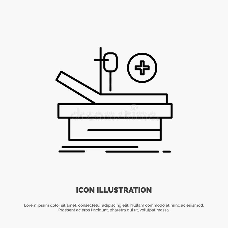 Operation, Theater, Medical, Hospital Line Icon Vector vector illustration