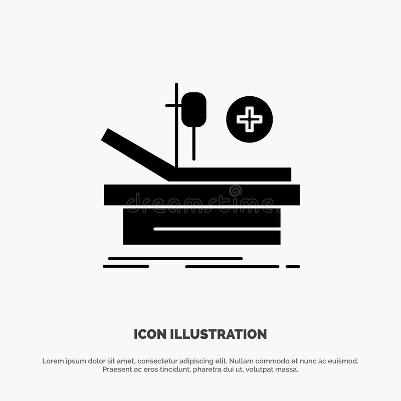 Operation, Theater, Medical, Hospital solid Glyph Icon vector royalty free illustration