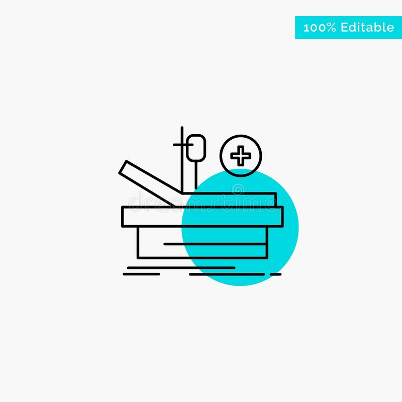 Operation, Theater, Medical, Hospital turquoise highlight circle point Vector icon stock illustration