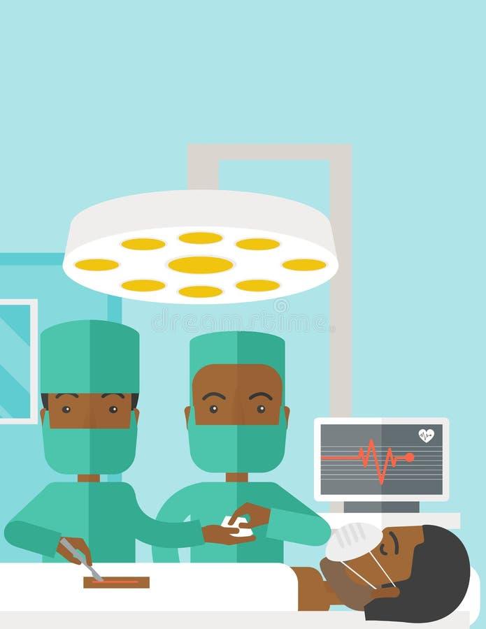 Operating Room Design: Medical Operating Room Design Poster Stock Vector