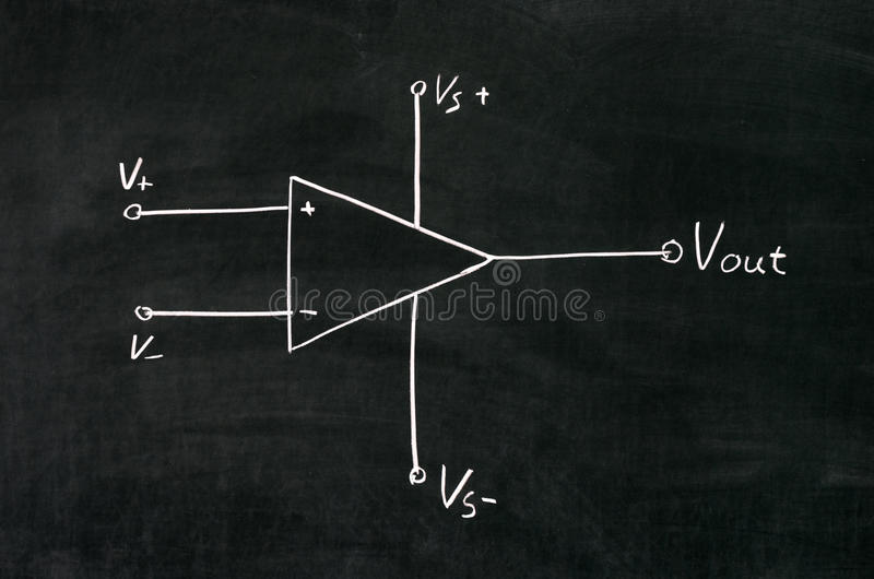Download Operational amplifier stock illustration. Image of drawn - 43448432