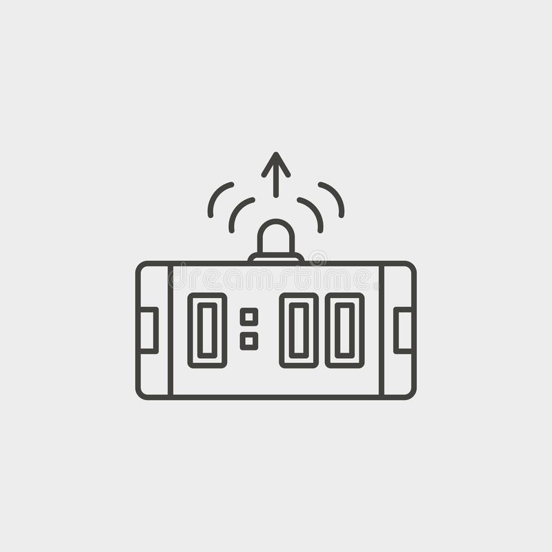 Operational, system, outline, icon. Web Development Vector Icon. Element of simple symbol for websites, web design, mobile app, vector illustration