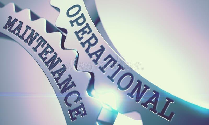 Operationeel Onderhoud - Mechanisme van Glanzende Metaaltandraderen 3d royalty-vrije stock foto's