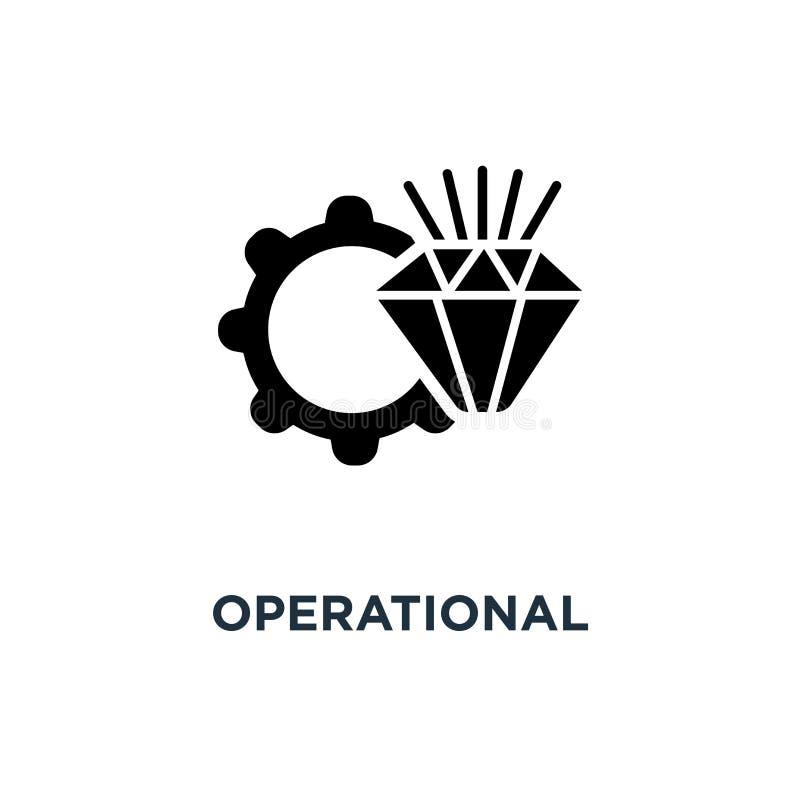 operationeel voortreffelijkheidspictogram operationeel voortreffelijkheidsconcept symb stock illustratie