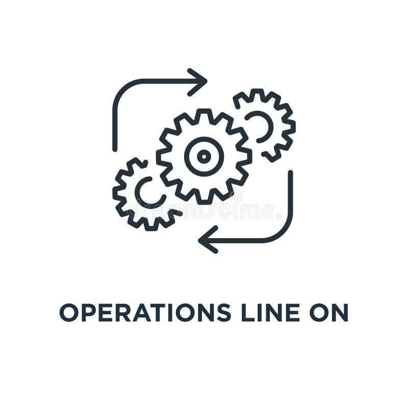 Operationen zeichnen auf weißer Ikone Operationen zeichnen auf weißem Konzept lizenzfreie abbildung