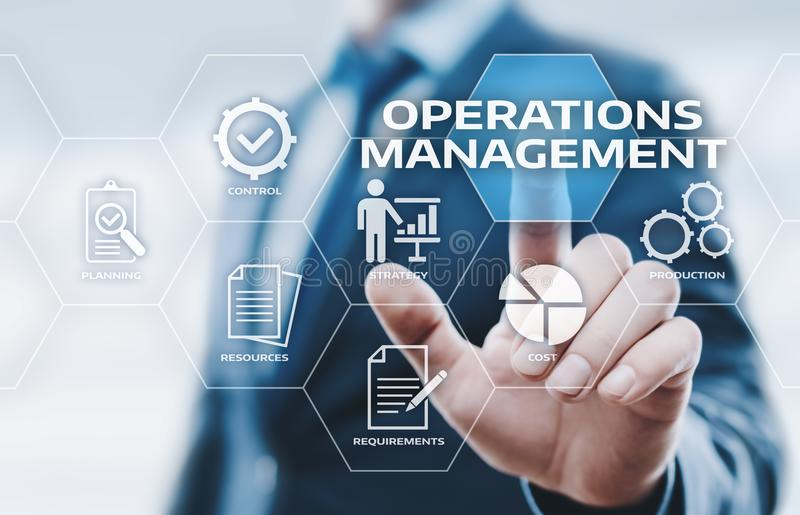 Operations Management Strategy Business Internet Technology Concept.  stock photo