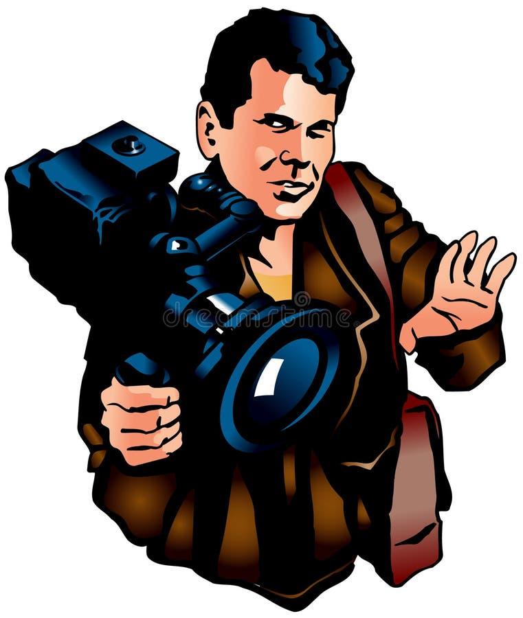 Download Operator stock illustration. Image of cinema, frame, camera - 10676821
