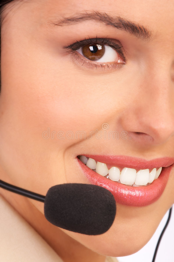 OPERATOR of a CALL CENTER royalty free stock photo