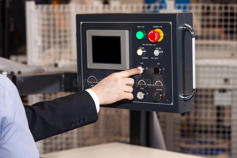 Operator CNC maszyna zdjęcie royalty free