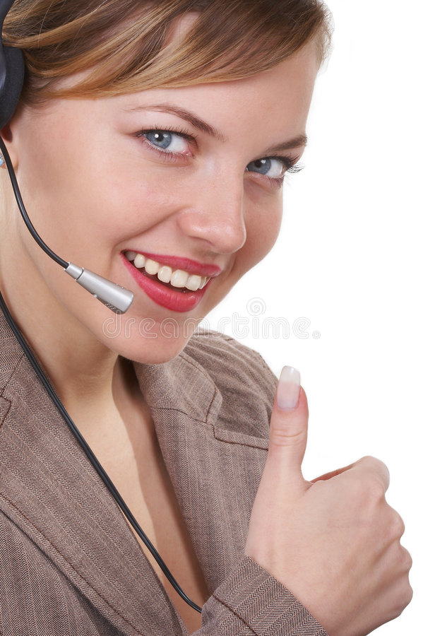 Download The Operator Communicates With The Client Stock Image - Image: 1531657