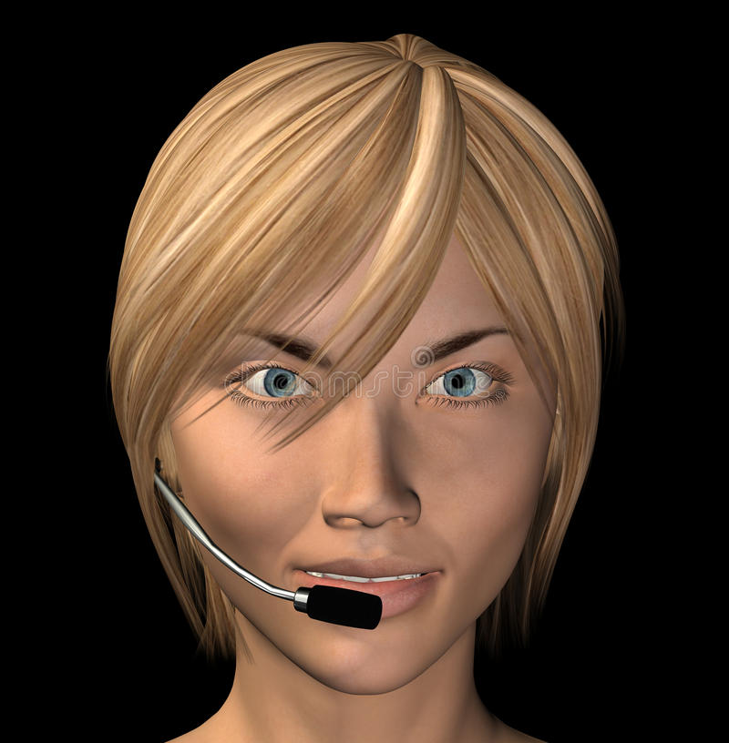Download Operator headset stock illustration. Image of call, friendly - 18496387