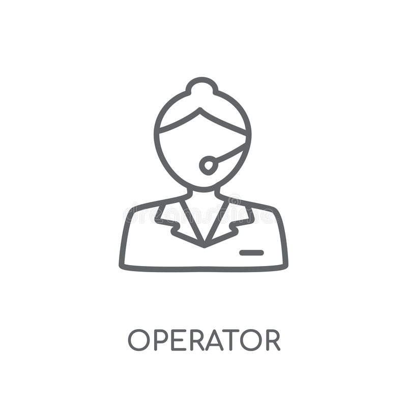 Operator linear icon. Modern outline Operator logo concept on wh vector illustration