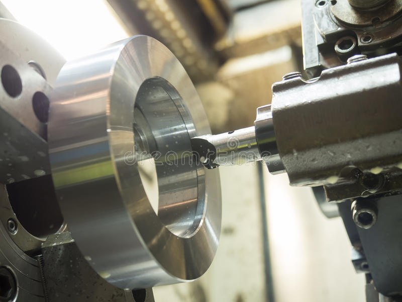 Operator machining mold and die parts for automotive royalty free stock images