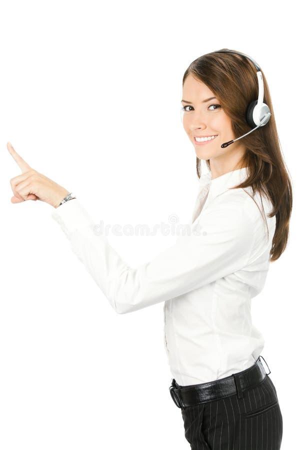 operator nad poparcie biel zdjęcia royalty free