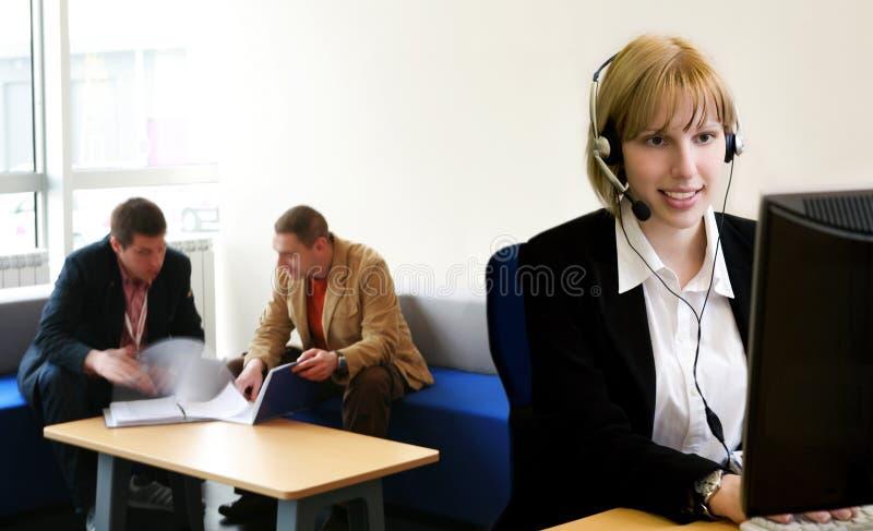 Operator przy pracą zdjęcia stock