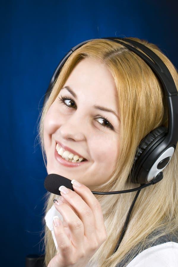 Operator woman royalty free stock image