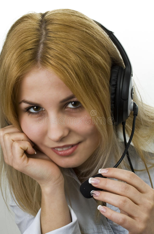 Operator woman stock images