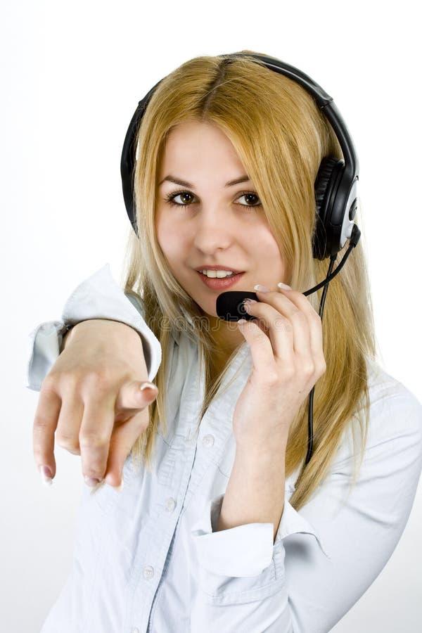 Operator woman stock image
