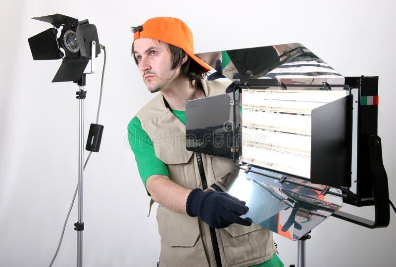 Operatore chiaro fotografia stock libera da diritti