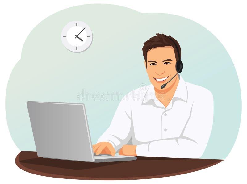Operatore concentrare di sostegno illustrazione vettoriale