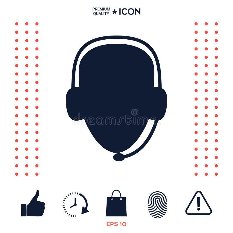 Download Operatore In Cuffia Avricolare Icona Della Call Center Illustrazione Vettoriale - Illustrazione di disegno, icona: 117976189