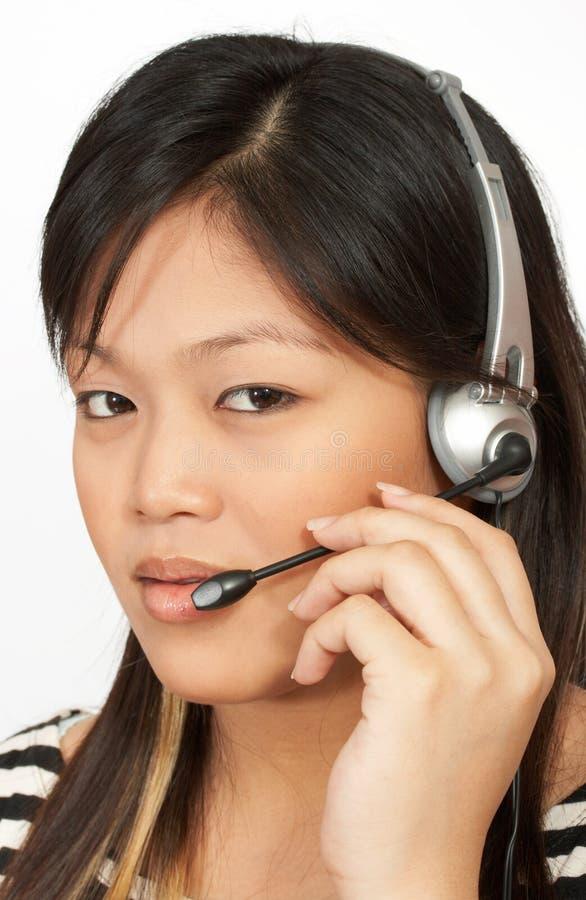 Operatore del telefono fotografie stock