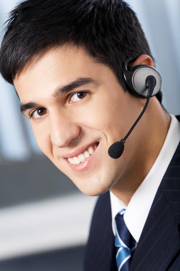 Operatore del telefono di sostegno immagini stock libere da diritti
