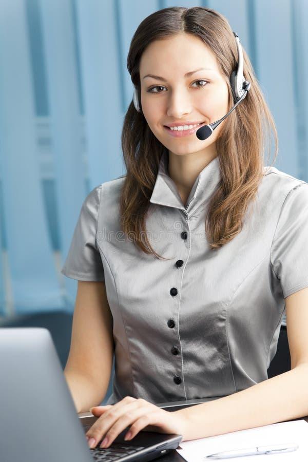 Operatore del telefono di sostegno fotografie stock