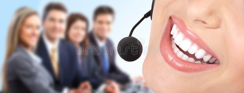 Operatore della call center fotografie stock libere da diritti