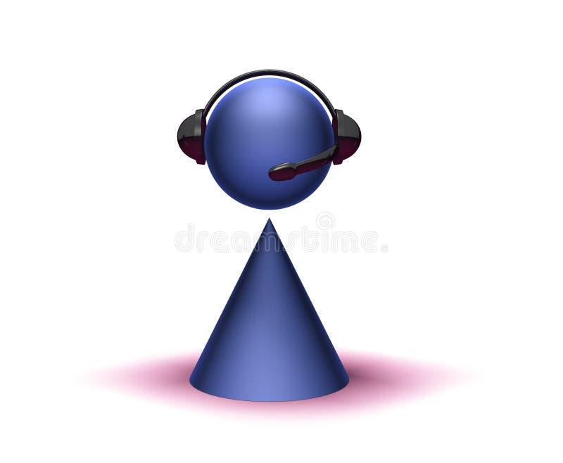 Operatore della call center royalty illustrazione gratis