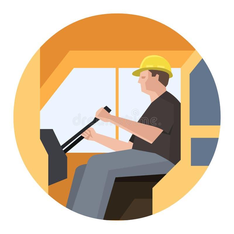 Operatore della gru di costruzione illustrazione di stock