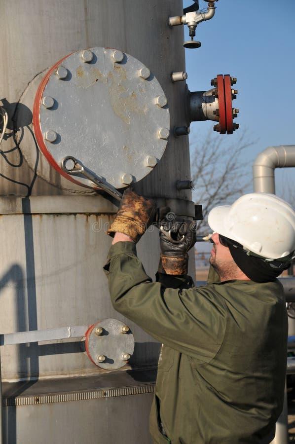 Operatore di gas immagine stock libera da diritti